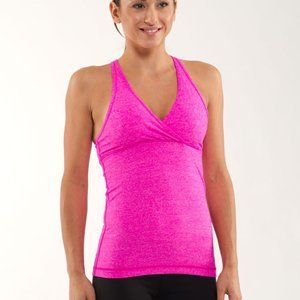Lululemon Deep V Tank Heathered Paris Pink